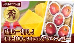 【秀】大玉のギフト用マンゴー